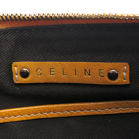 Celine(셀린느) 로고 패브릭 오렌지 레더 혼방 숄더백