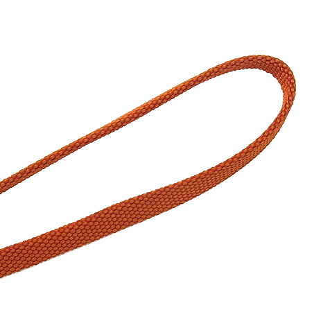 Hermes(에르메스) 오렌지 패브릭 은장 라운드로고 목걸이 핸드폰 줄 [강남본점]