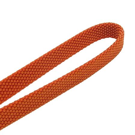Hermes(에르메스) 오렌지 패브릭 은장 라운드로고 핸드폰 줄