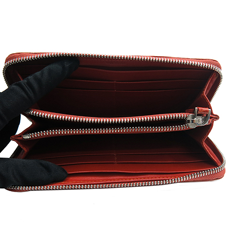 COLOMBO(콜롬보) CA11W013AR 346 크로크다일 오렌지 짚업 장지갑