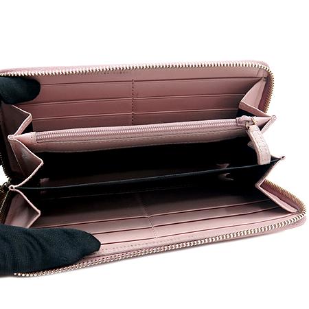 YSL(입생로랑) 177555 핑크 페이던트 로고 스티치 지피월릿 장지갑 이미지3 - 고이비토 중고명품