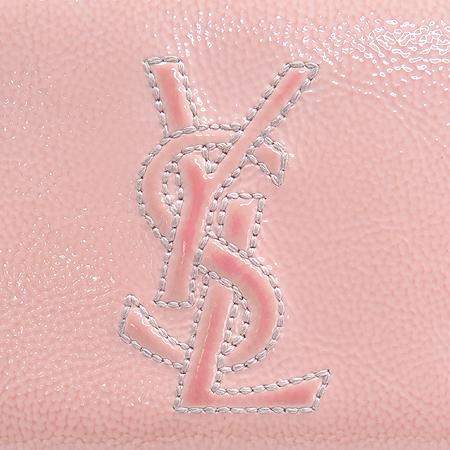 YSL(입생로랑) 177555 핑크 페이던트 로고 스티치 지피월릿 장지갑 이미지4 - 고이비토 중고명품