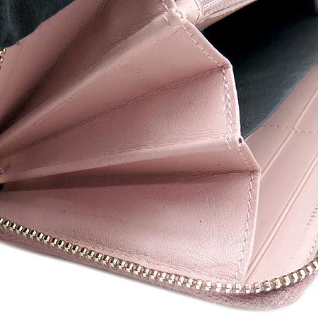 YSL(입생로랑) 177555 핑크 페이던트 로고 스티치 지피월릿 장지갑 이미지5 - 고이비토 중고명품