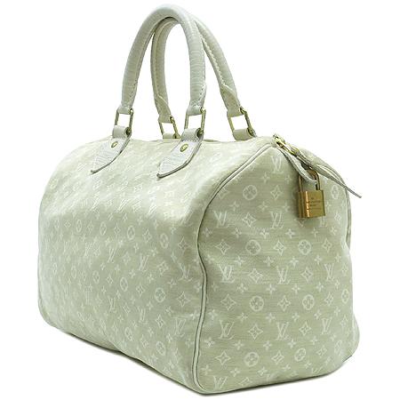 Louis Vuitton(루이비통) M95319 모노그램 미니린 화이트 스피디 30 토트백