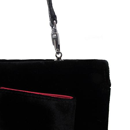 Ferragamo(페라가모) 21 4810 블랙 벨벳 은장 바라장식 클러치백+숄더스트랩 [부천 현대점] 이미지4 - 고이비토 중고명품