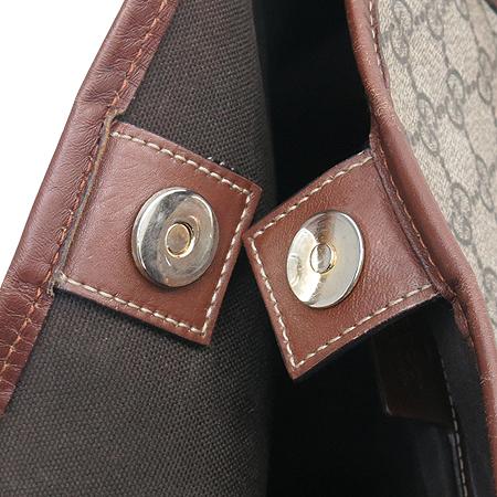 Gucci(구찌) 197954 GG로고 PVC 브라운 레더 트리밍 쇼퍼 숄더백