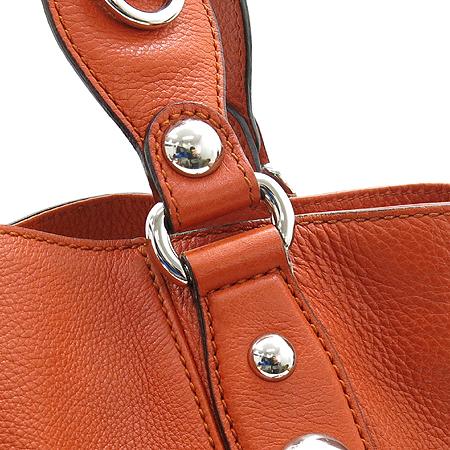 Gucci(구찌) 232952 오렌지 레더 홀스빗 장식 사이드 더블 짚 Icon bit(아이콘 빗) 토트백