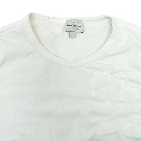 Calvin Klein(캘빈클라인) 화이트 컬러 티 이미지2 - 고이비토 중고명품
