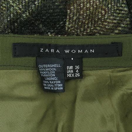 ZARA(자라) 카키 컬러 트위드 스커트