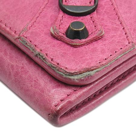 Balenciaga(발렌시아가) 225088 핑크 빈티지 레더 모터 반지갑