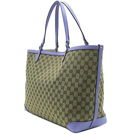 Gucci(구찌) 247207 GG로고 자가드 쇼퍼 숄더백 + 보조 파우치 [압구정매장]