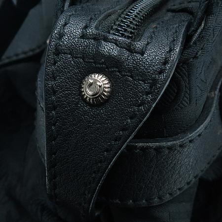 Ferragamo(페라가모) 21 8884 은장 간치니 로고 장식 이니셜 패턴 패브릭 토트백