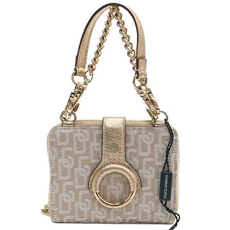 D&G(돌체&가바나) 금장 라운드 로고 장식 패브릭 다용도 지갑 [강남본점]