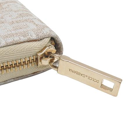 D&G(돌체&가바나) 금장 라운드 로고 장식 패브릭 다용도 지갑