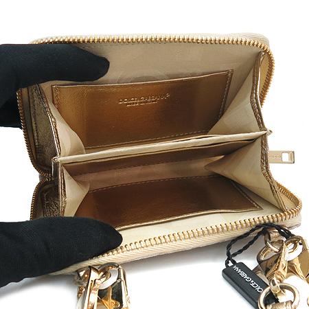 D&G(돌체&가바나) 금장 라운드 로고 장식 패브릭 다용도 지갑 [강남본점] 이미지4 - 고이비토 중고명품