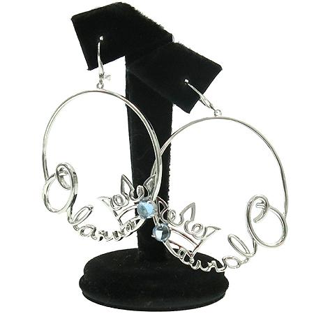 J.ESTINA(제이에스티나) 925 (실버) 이니셜 로고 티아라 장식 링 귀걸이