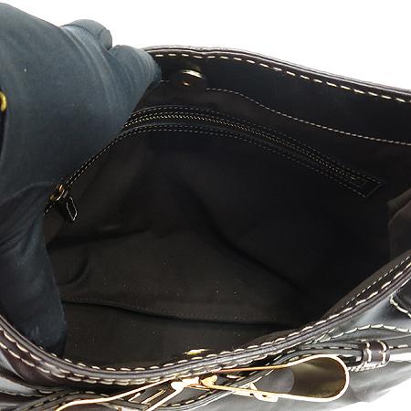 Gucci(구찌) 189885 브라운 레더 금장 리본 장식 호보 숄더백 [강남본점] 이미지5 - 고이비토 중고명품