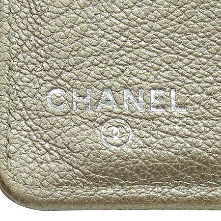 Chanel(샤넬) 은장 COCO 로고 실버 메탈릭 장지갑