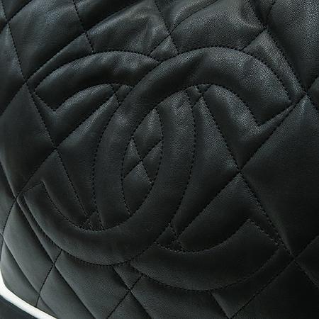 Chanel(샤넬) A47921 램스킨 블랙 로고스티치 LIDO(리도) 은장체인 숄더백 [부산센텀본점] 이미지4 - 고이비토 중고명품