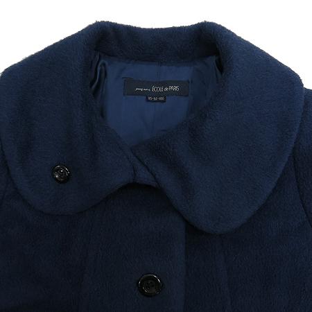 Ecole De Paris(에꼴드파리) 다크블루컬러 알파카혼방 코트