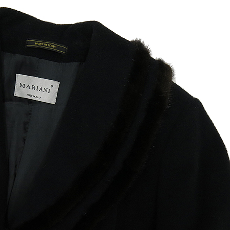 MARIANI(마리아니) 밍크혼방 블랙컬러 롱 코트[부산센텀본점] 이미지3 - 고이비토 중고명품