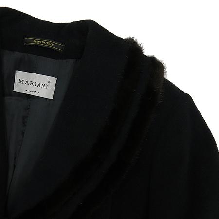 MARIANI(마리아니) 밍크혼방 블랙컬러 롱 코트