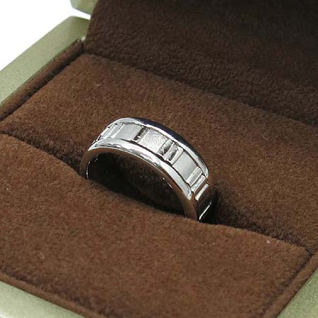 Tiffany(티파니) 18k(750) 화이트 골드 6MM 아틀라스 반지 - 11호