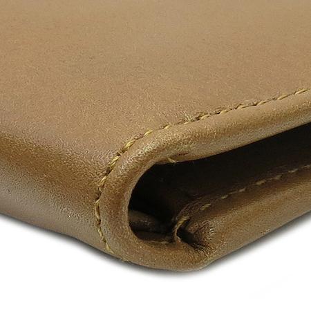 VALENTINO(발렌티노) 은장 로고 장식 브라운 레더 남성용 반지갑 이미지5 - 고이비토 중고명품