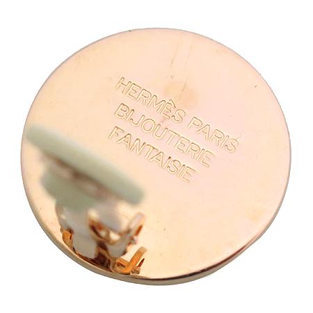 Hermes(에르메스) 금장 라운드 귀걸이