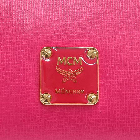 MCM(엠씨엠) 1011075070812 핑크 레더 원통 토트백