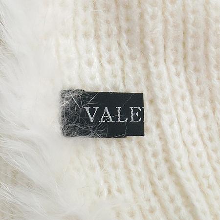 VALENTINE(발렌타인) 토끼털 화이트 혼방 머플러