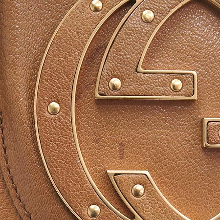 Gucci(구찌) 121544 브라운 레더 로고 장식 숄더백 이미지4 - 고이비토 중고명품