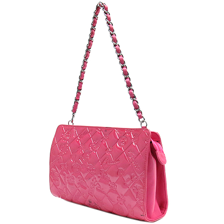 Chanel(샤넬) 크루즈 컬렉션 핑크 페이던트 아이콘 포체 파우치 겸 숄더백