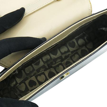 LOVCAT(러브캣) 블랙 레더 리본 장식 토트백