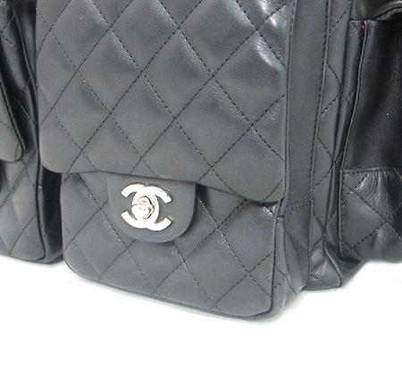 Chanel(샤넬) A25173 블랙 깜봉 COCO 로고 스티치 멀티 포켓 숄더백 [분당매장]