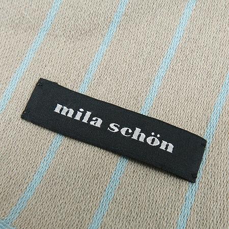 MILA SCHON (밀라숀) 혼방 스트라이프 머플러