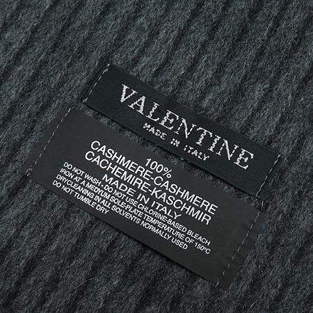 VALENTINE(발렌타인) 캐시미어 100% 그레이 스트라이프 머플러