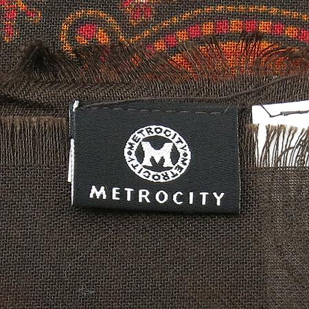 Metrocity(메트로시티) 페이즐리 브라운 스카프