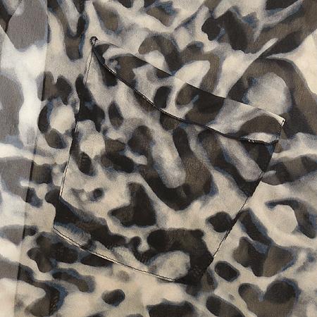 VOV(보브) 레오파드 패턴 시스루 브라우스