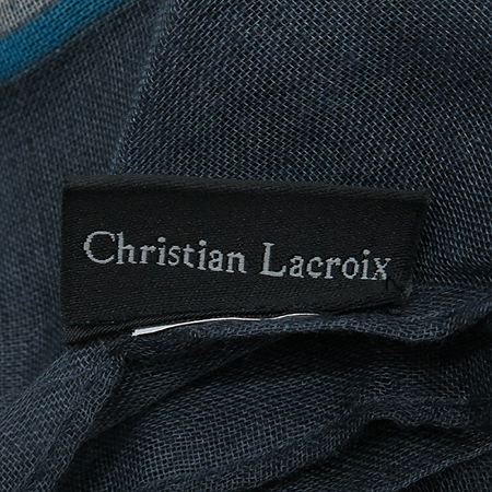 ChristianLacroix (크리스찬 라끄르와) 폴리에스터 100% 그레이 블랙 혼합 코치패턴 스카프