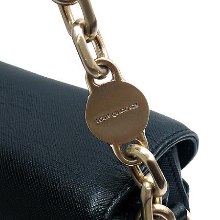 Louis_Quatorze(루이까또즈) 1-AL242 블랙 래더 사피아노 로고 은장 체인 숄더백