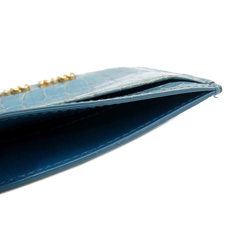MiuMiu(미우미우) 스카이 블루 크로커다일 패턴 명함지갑 [강남본점] 이미지5 - 고이비토 중고명품