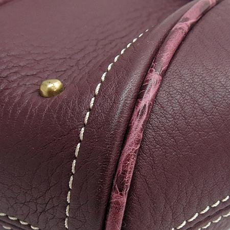 Louis_Quatorze (루이까또즈) 크로커다일 패턴 금장 로고 벨트 장식 메신져 숄더백
