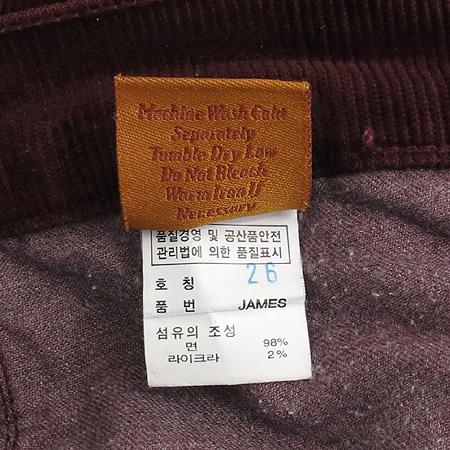 Premium Jeans(프리미엄진) JAMES CURED BY SEUN(제임스진) 버건디컬러 코듀로이 바지 이미지4 - 고이비토 중고명품