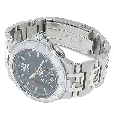 Fendi(펜디) 4700G 측면 로고 라운드 스틸 라지사이즈 남성용 시계