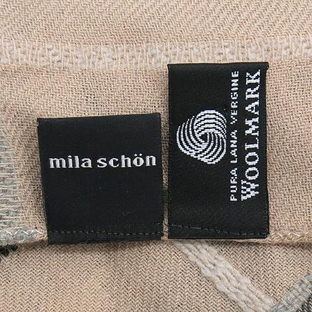 MILA SCHON(밀라 숀) 모 100% 체크 패턴 머플러