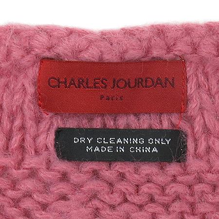 Charles Jourdan (찰스쥬르당) 100% 토끼털 핑크컬러 숄
