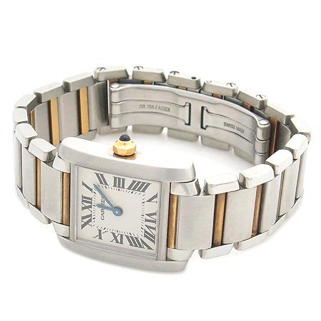 Cartier(까르띠에) W51007Q4 탱크 콤비 S 사이즈 여성용 시계
