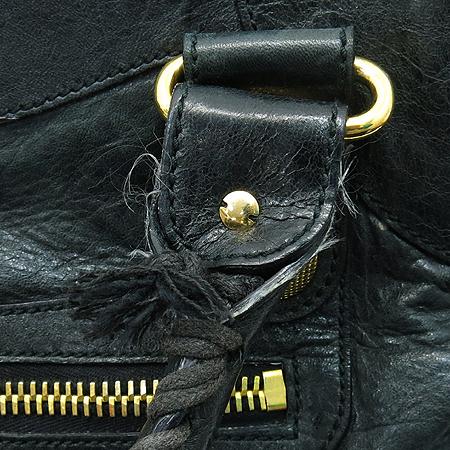 Balenciaga(발렌시아가) 173084 블랙 레더 자이언트 골드 시티 2WAY 이미지4 - 고이비토 중고명품