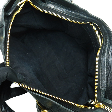 Balenciaga(발렌시아가) 173084 블랙 레더 자이언트 골드 시티 2WAY 이미지6 - 고이비토 중고명품